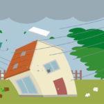 風災による保険補償は、最大瞬間風速が基準になる。